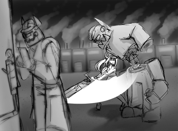 Diligence slaughtering Workers