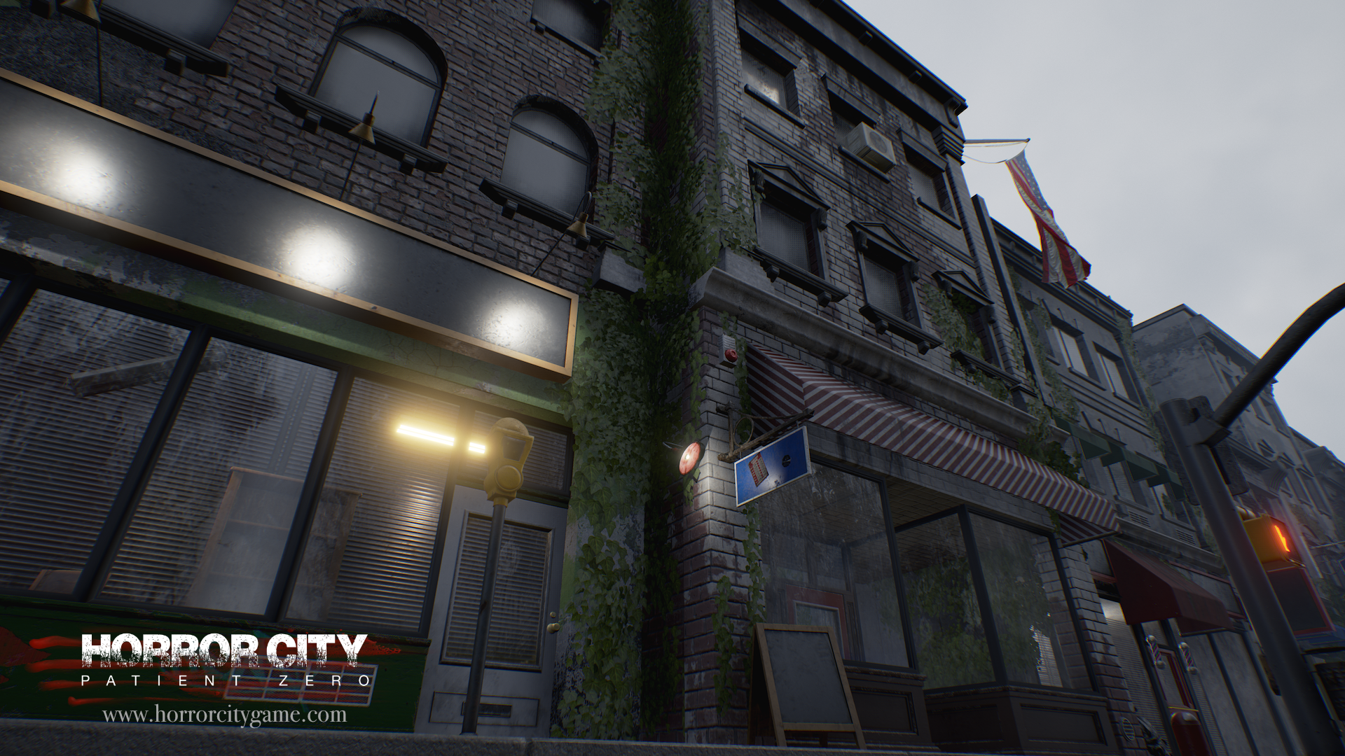 Check out the building in the center, it renders the new brick textures, which has been done with substance designer.