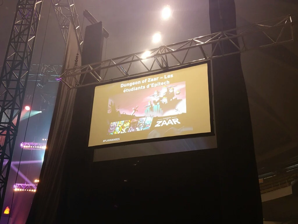 Our game on a big screen !