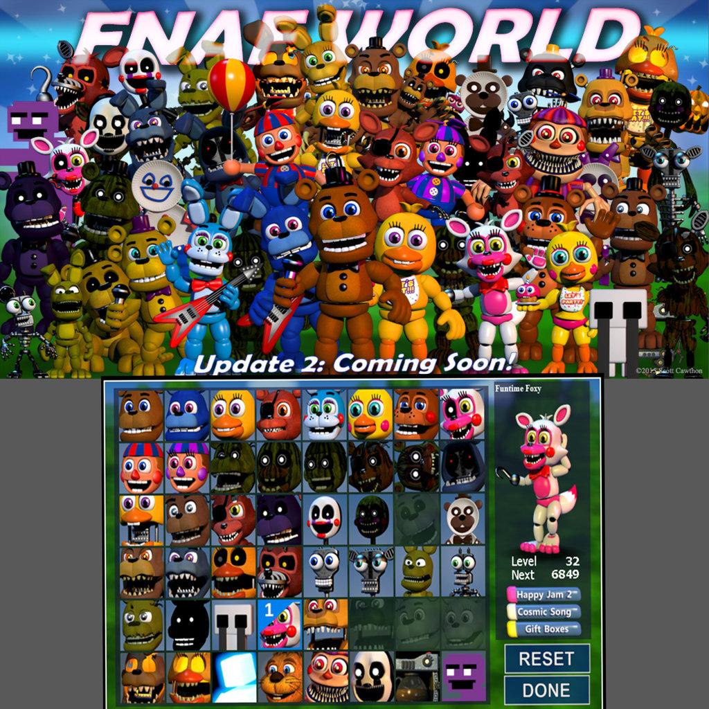 Скачать Игру Фнаф Ворлд Update 2 - фото 5