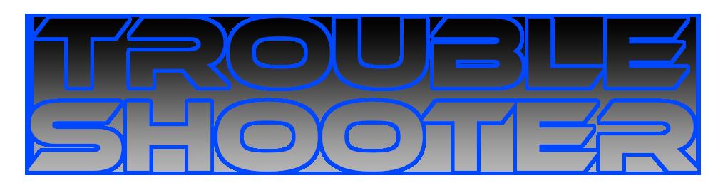 font logo blue
