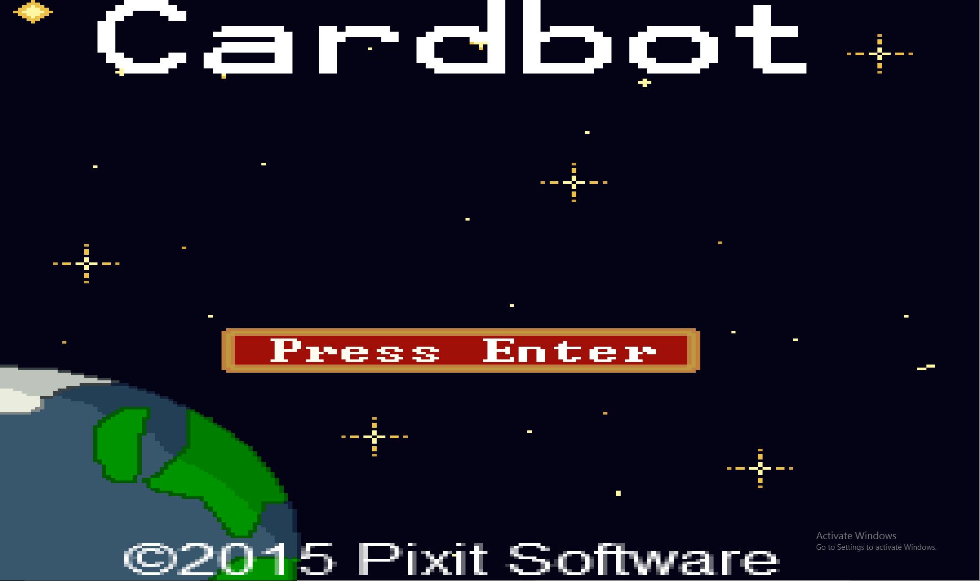 Cardbot Title Screen 2015