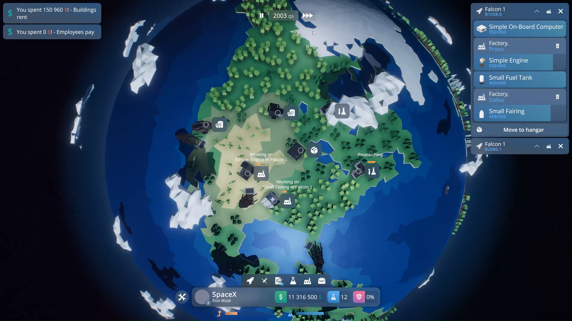 EarthX Early Access Gameplay Menus