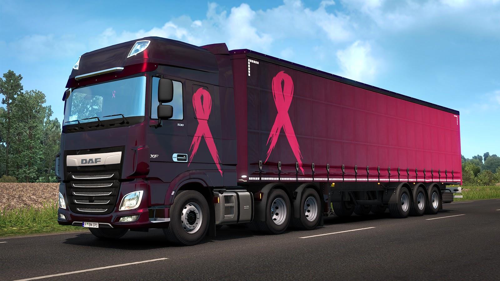 Euro Truck Sim 2 Pink Ribbon Eve