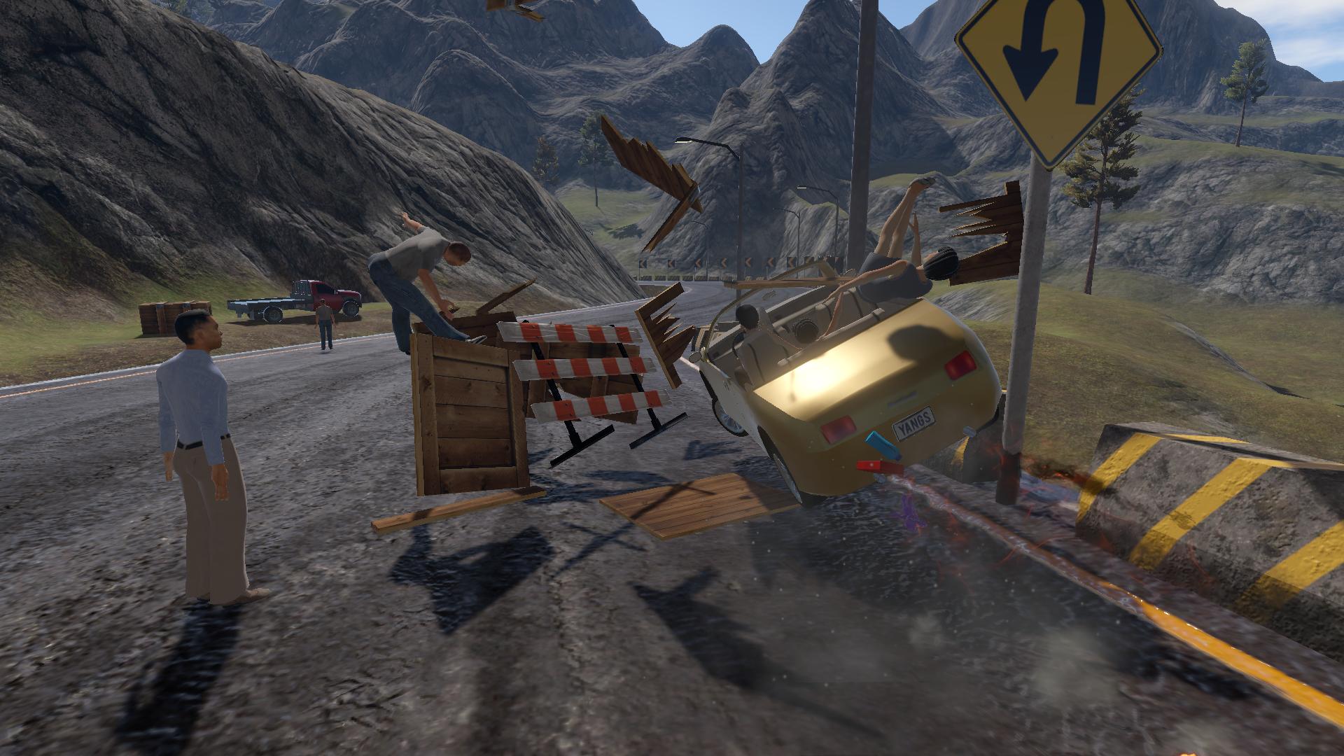 Construction Zone Crash