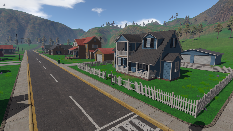 Quiet Main Street in Happy Valley