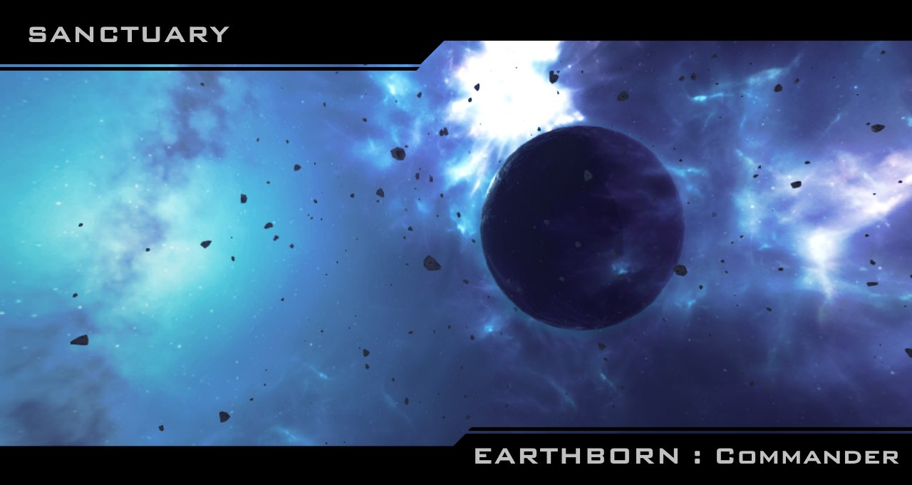 Sanctuary planet's vicinity. Area where humanity is hidden. (In-game footage)