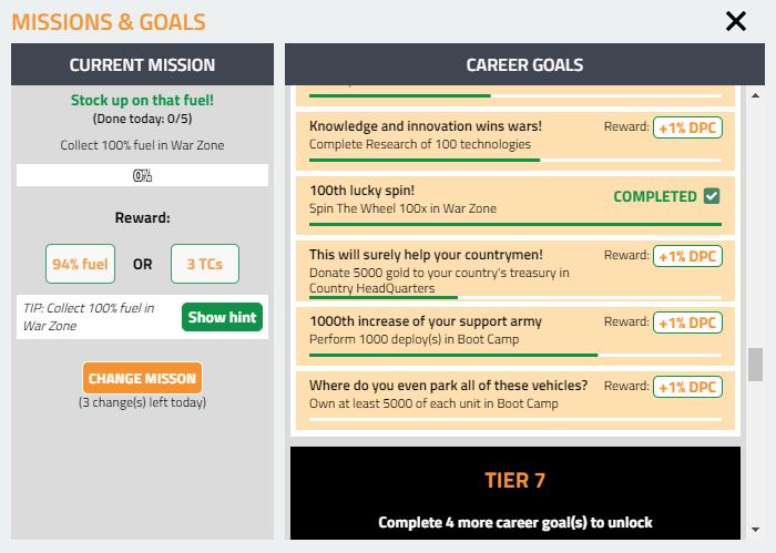 missions -& goals
