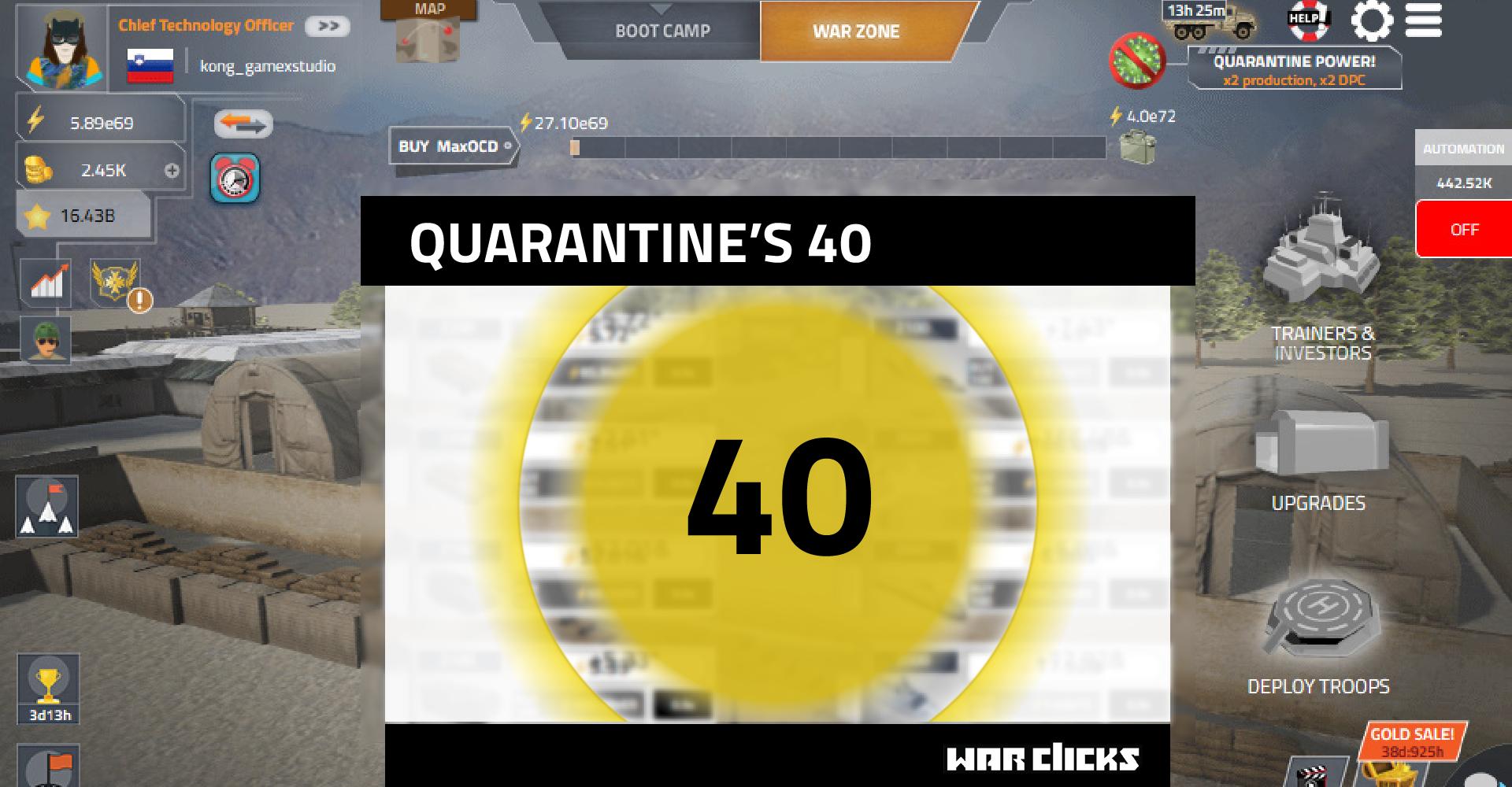 quarantine 40