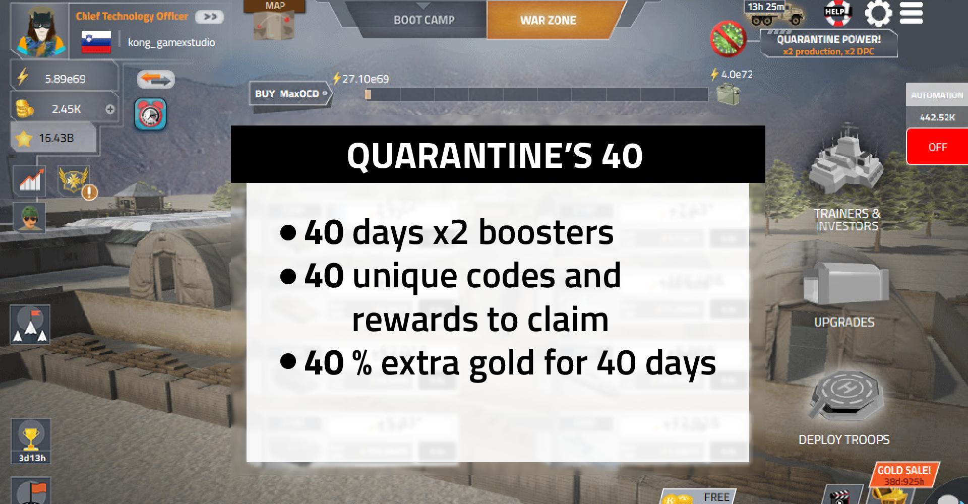 quarantine 40 days