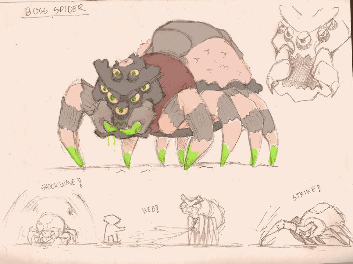 Overflo Game - Spidercus boss
