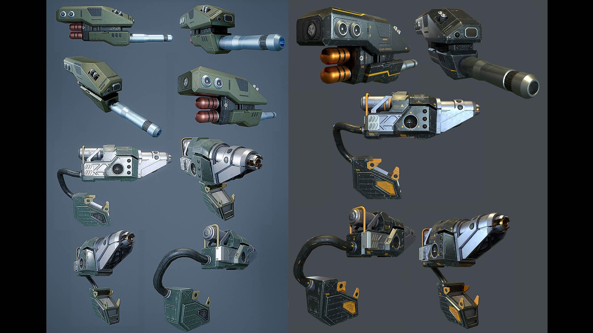 Scout mech weapon Texture previe