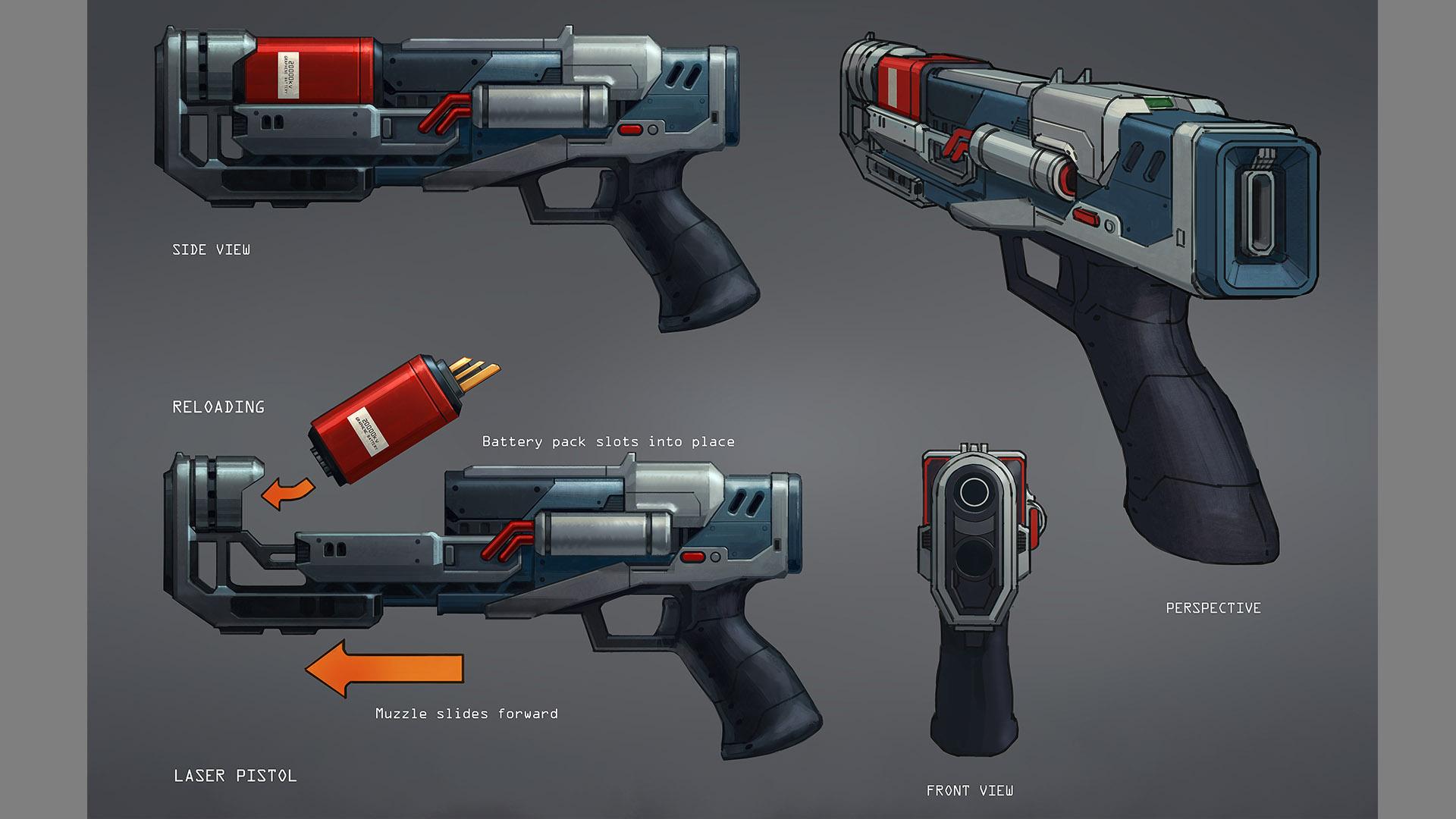 laser pistol persp