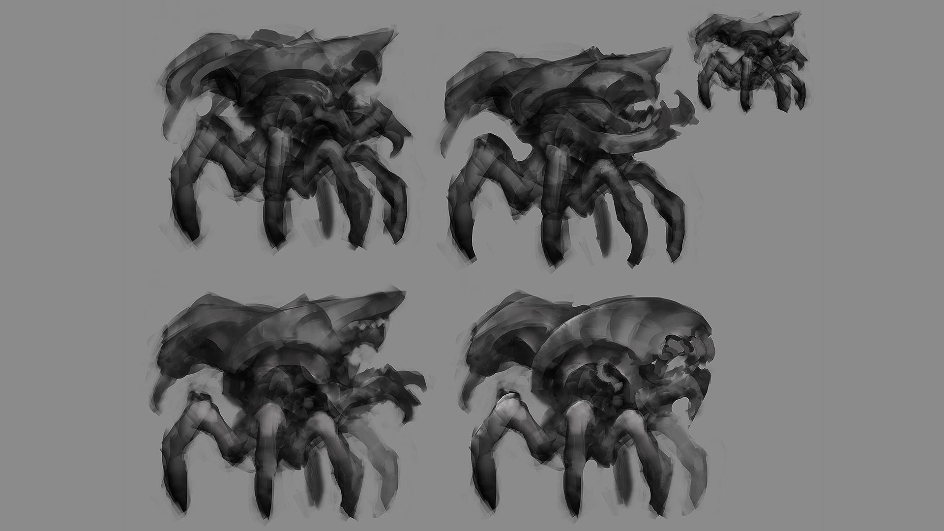 tall spider sketches 1