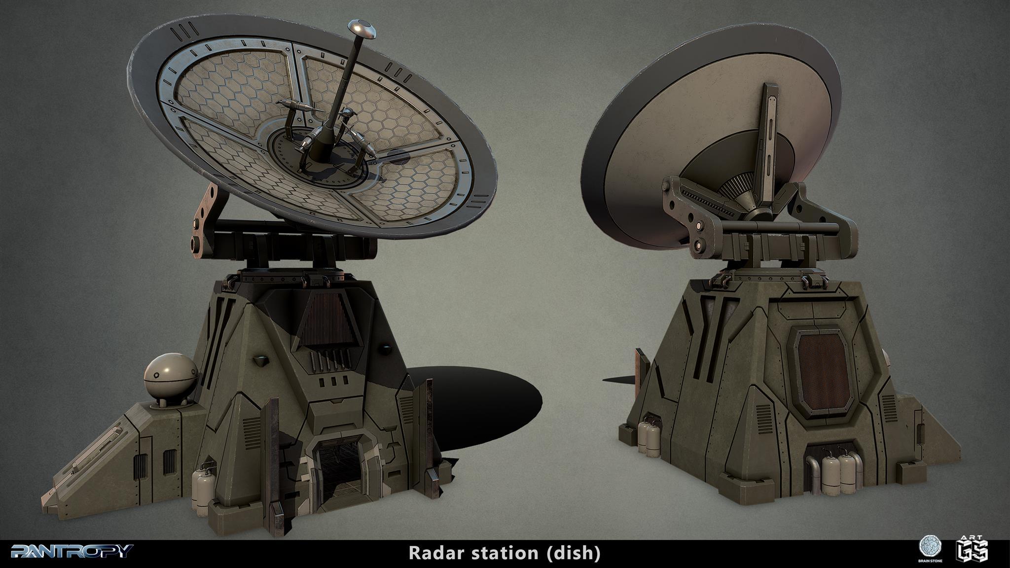 Radar station dish