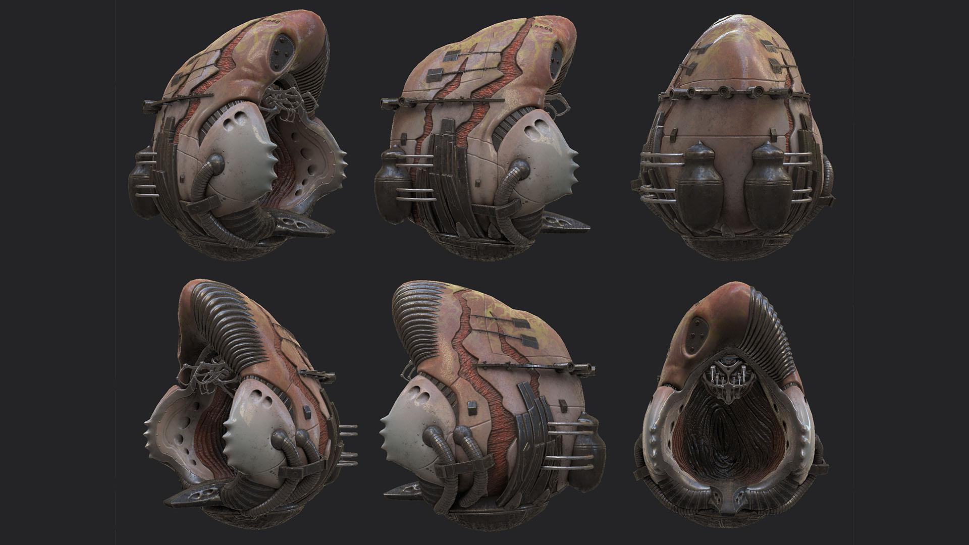 alien walker pod textures