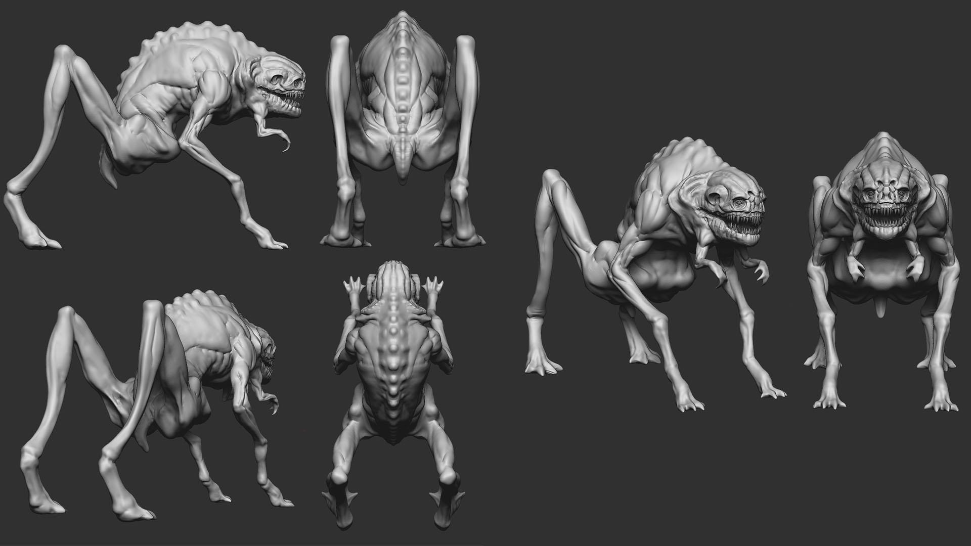 Grey Creature hipoly01