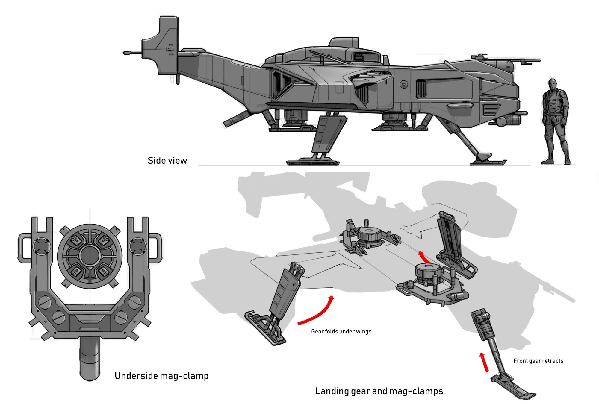 VTOL Tug sketches