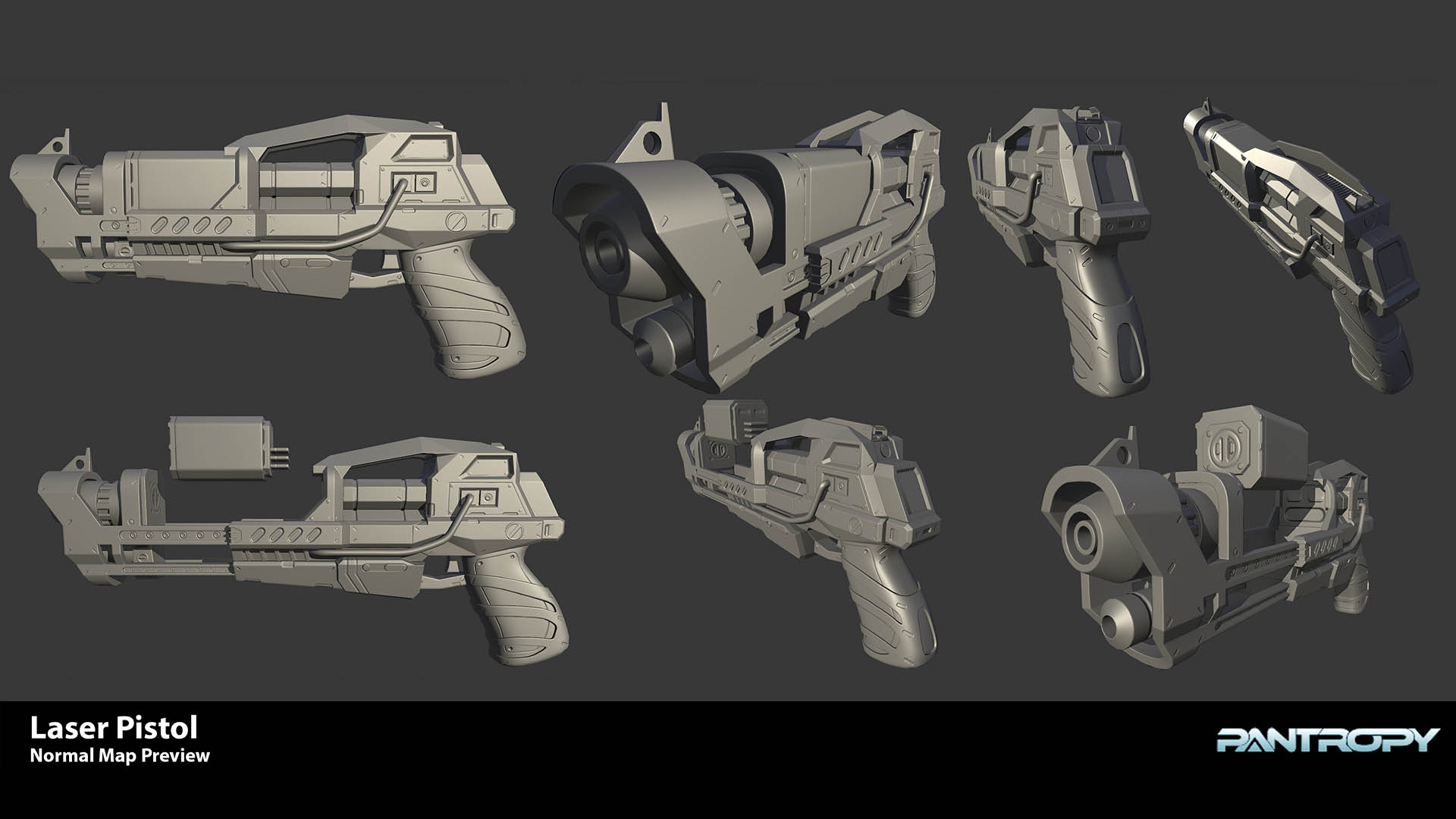 Laser Pistol Normal Map preview