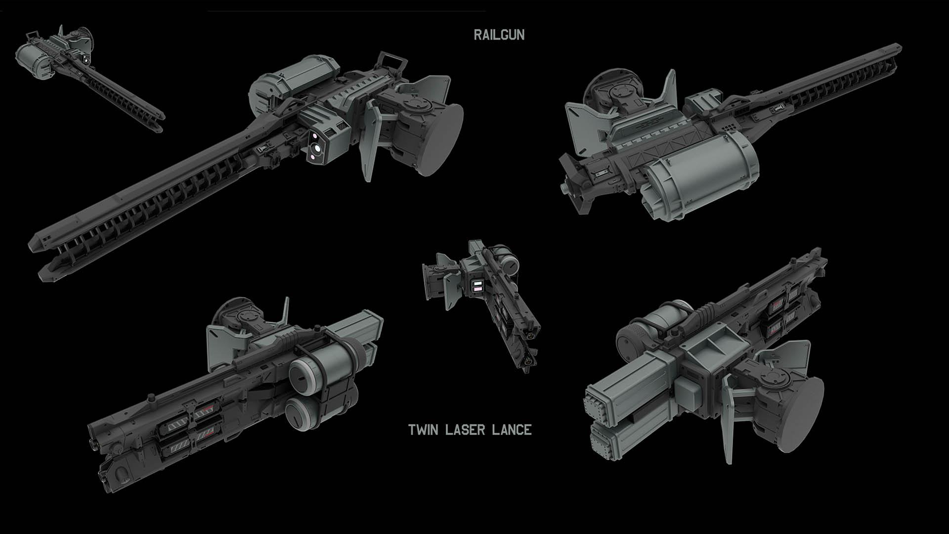 mech weapons