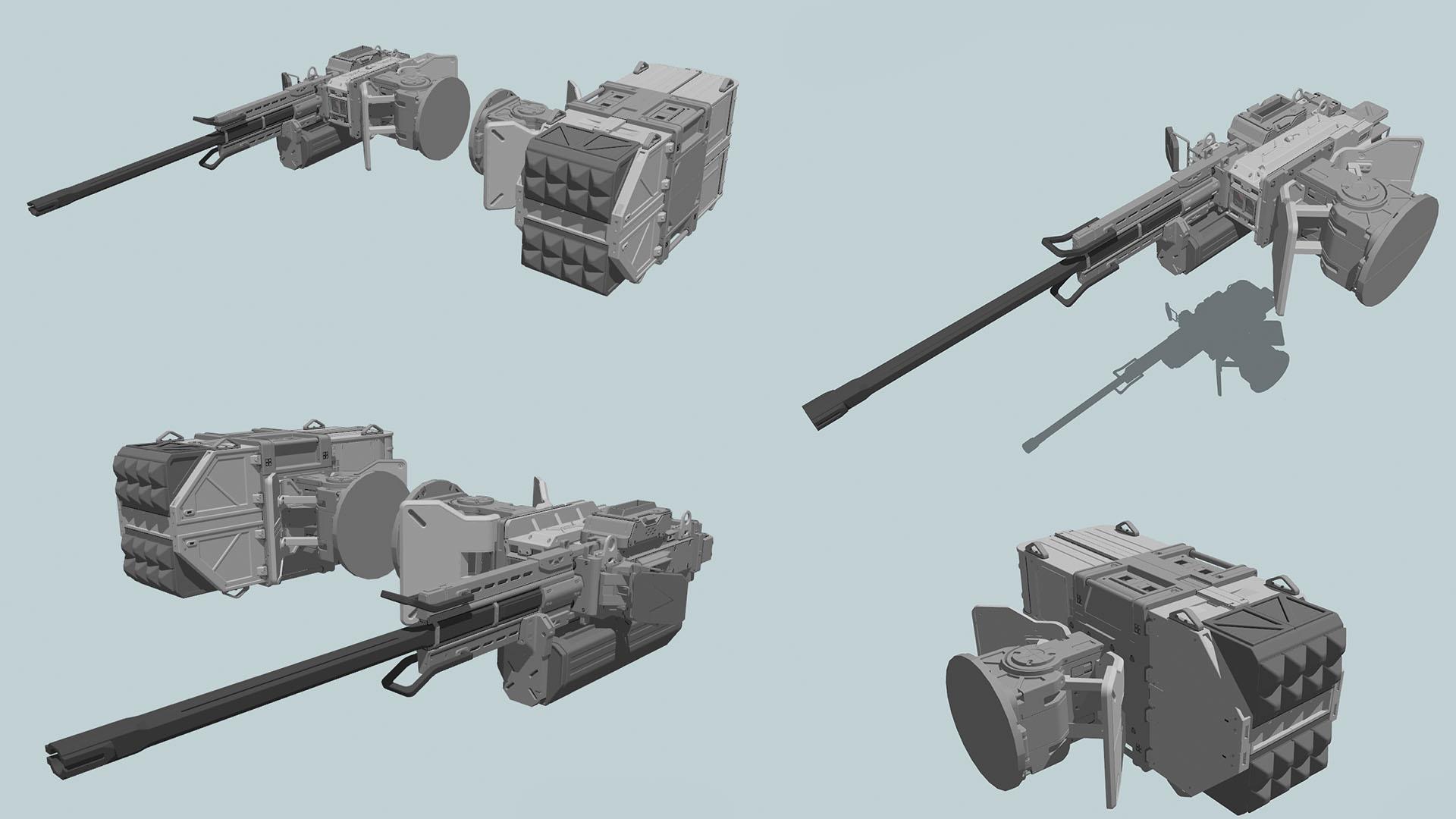 Pantropy mech weapons