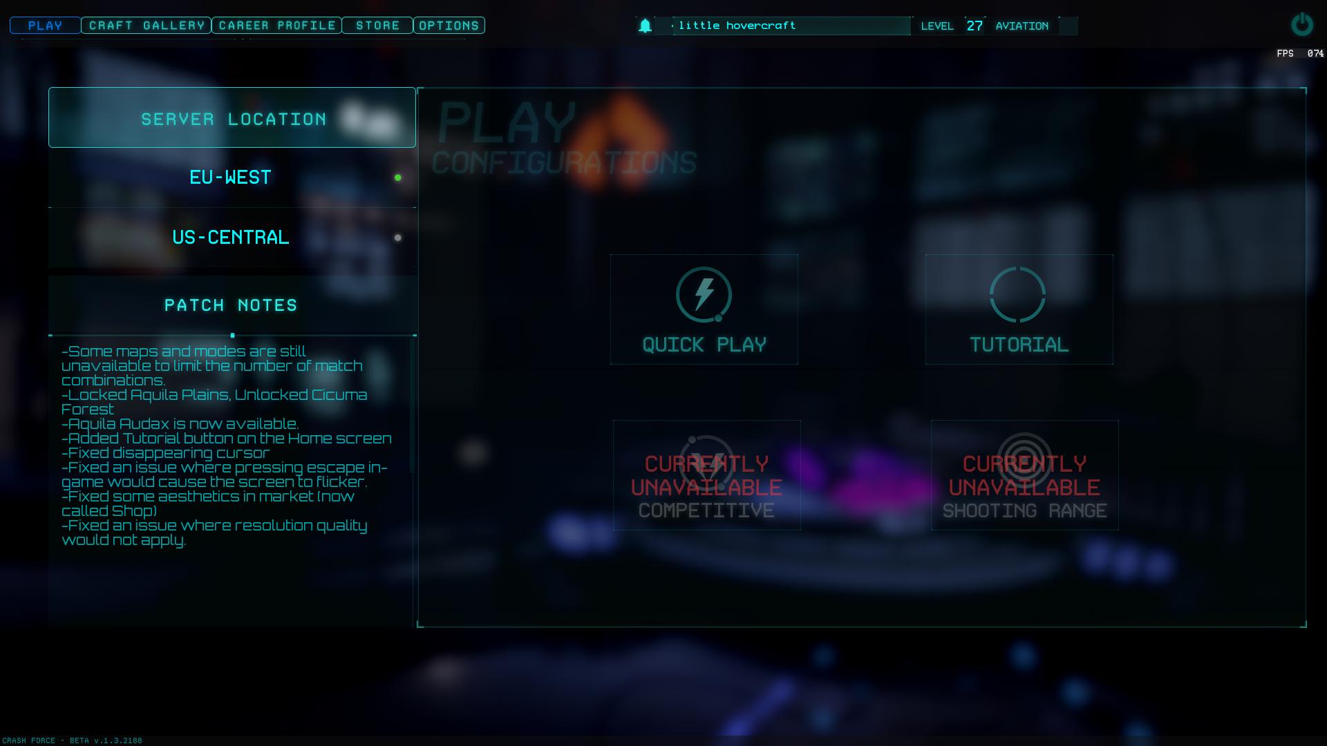 New Main Menu And Ingame UI News Crash Force Mod DB - Game menu design
