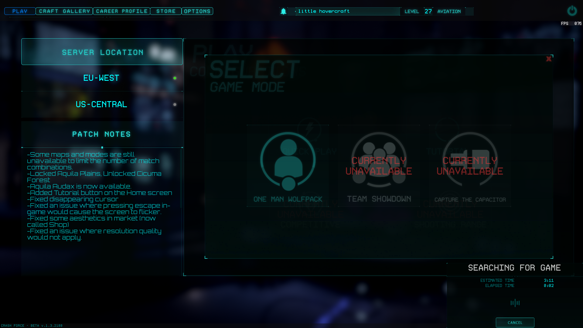 Crash Force New Game Modes