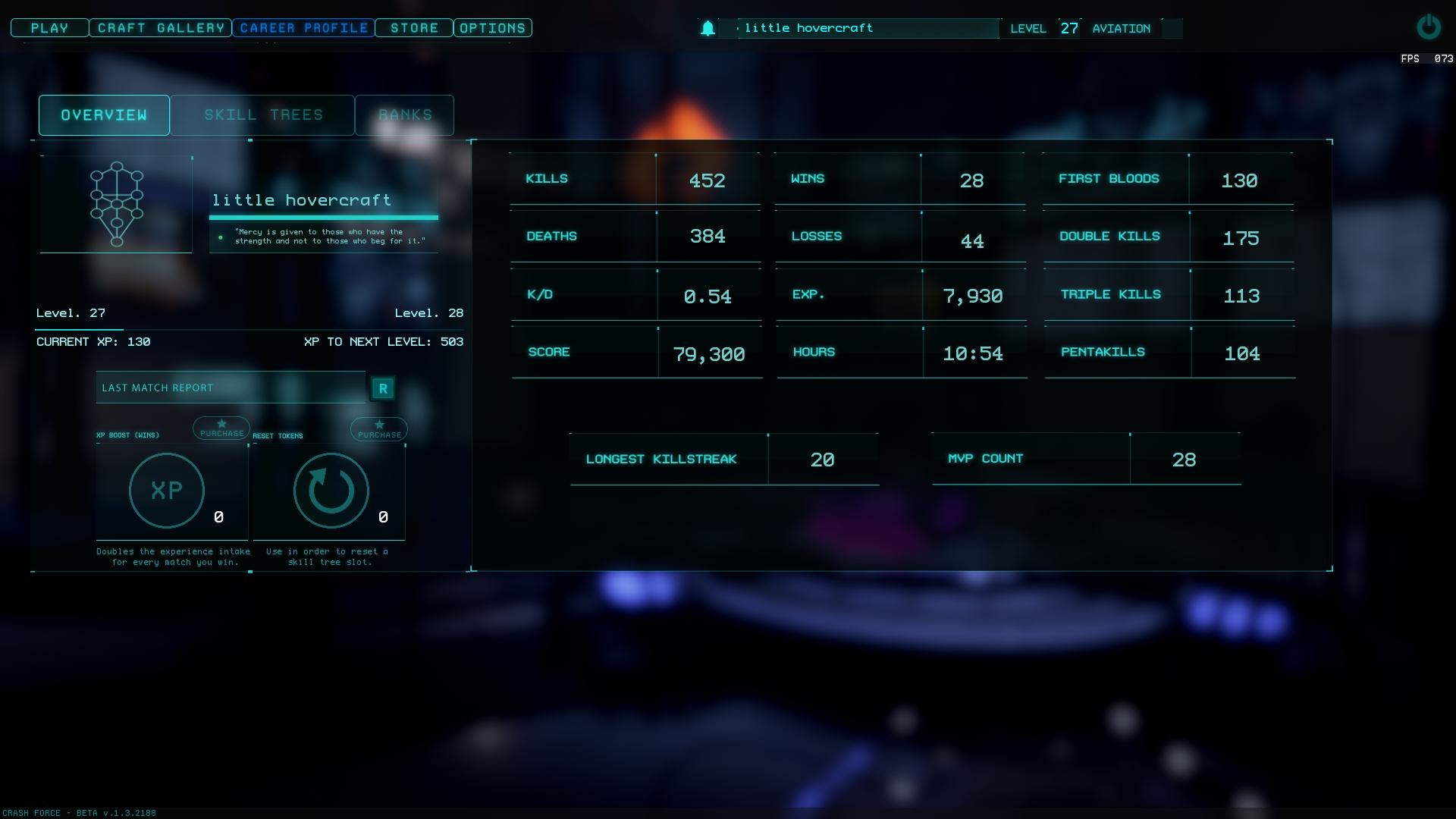 Crash Force Career Profile