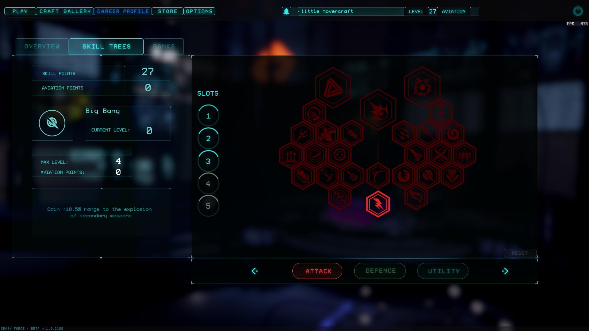 Crash Force new UI and Skills Tree