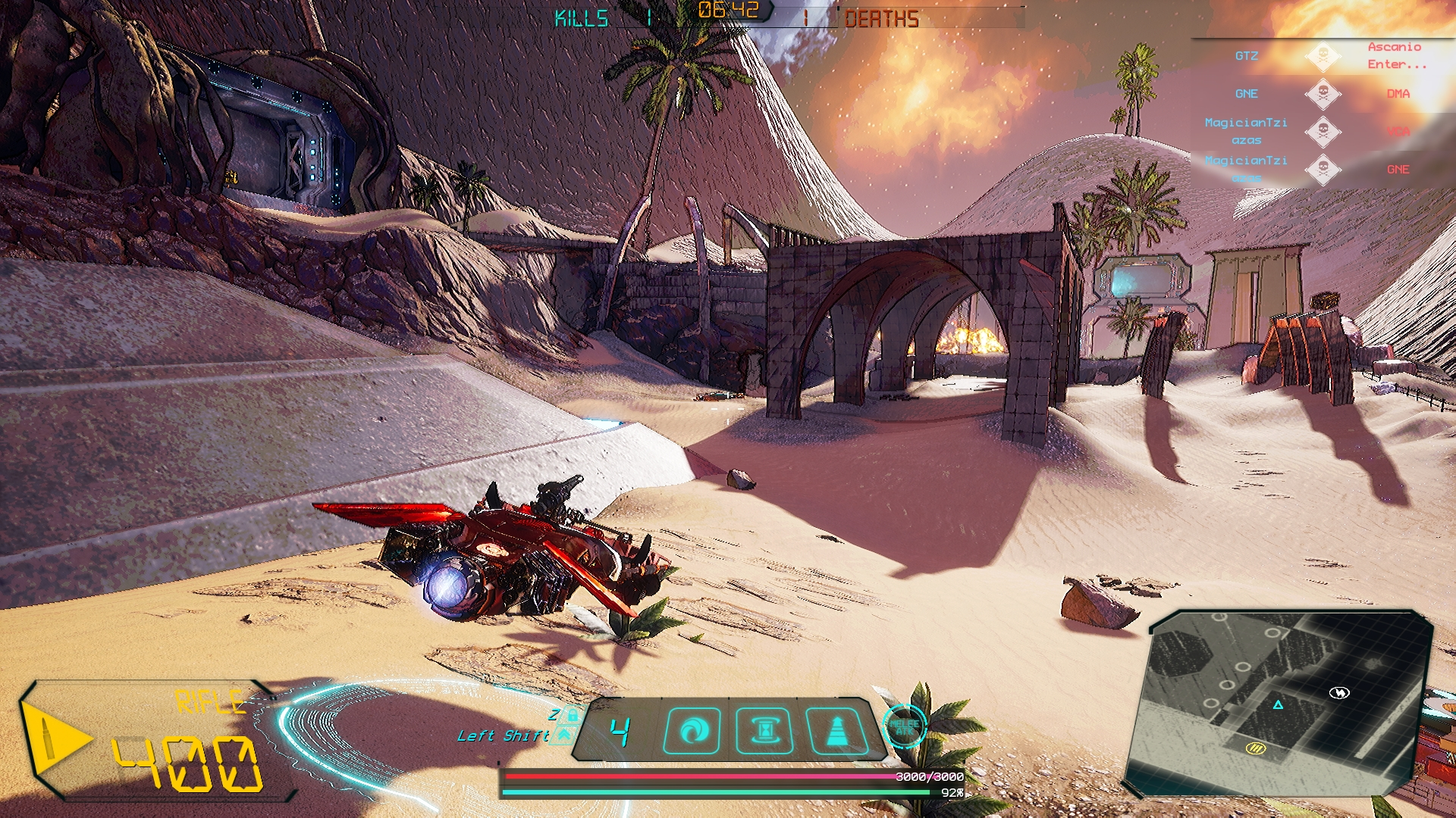 Aquila Plains in game screenshot of Crash Force