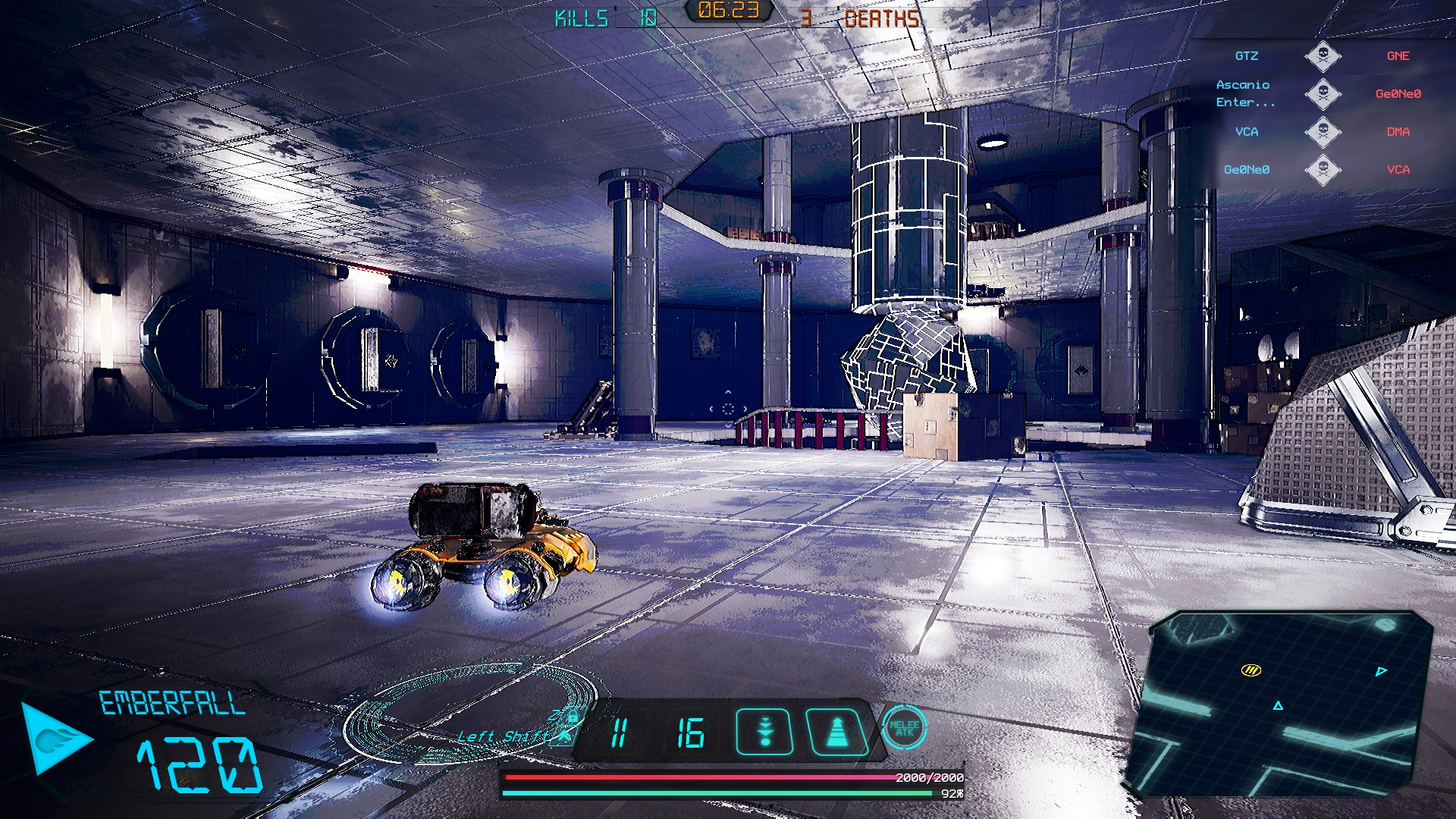 Clava Tombs in game screenshot of Crash Force