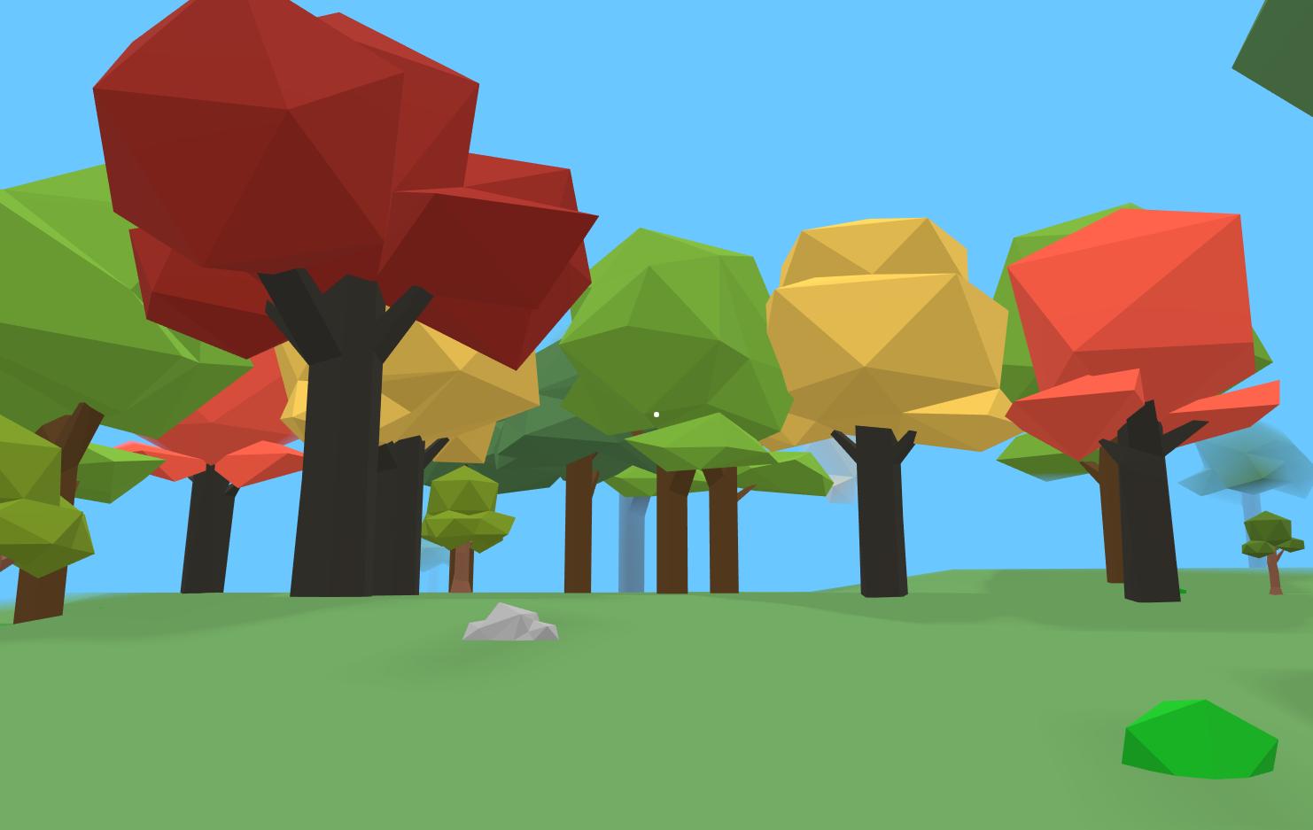 Morterra beautiful low poly trees indie game dev