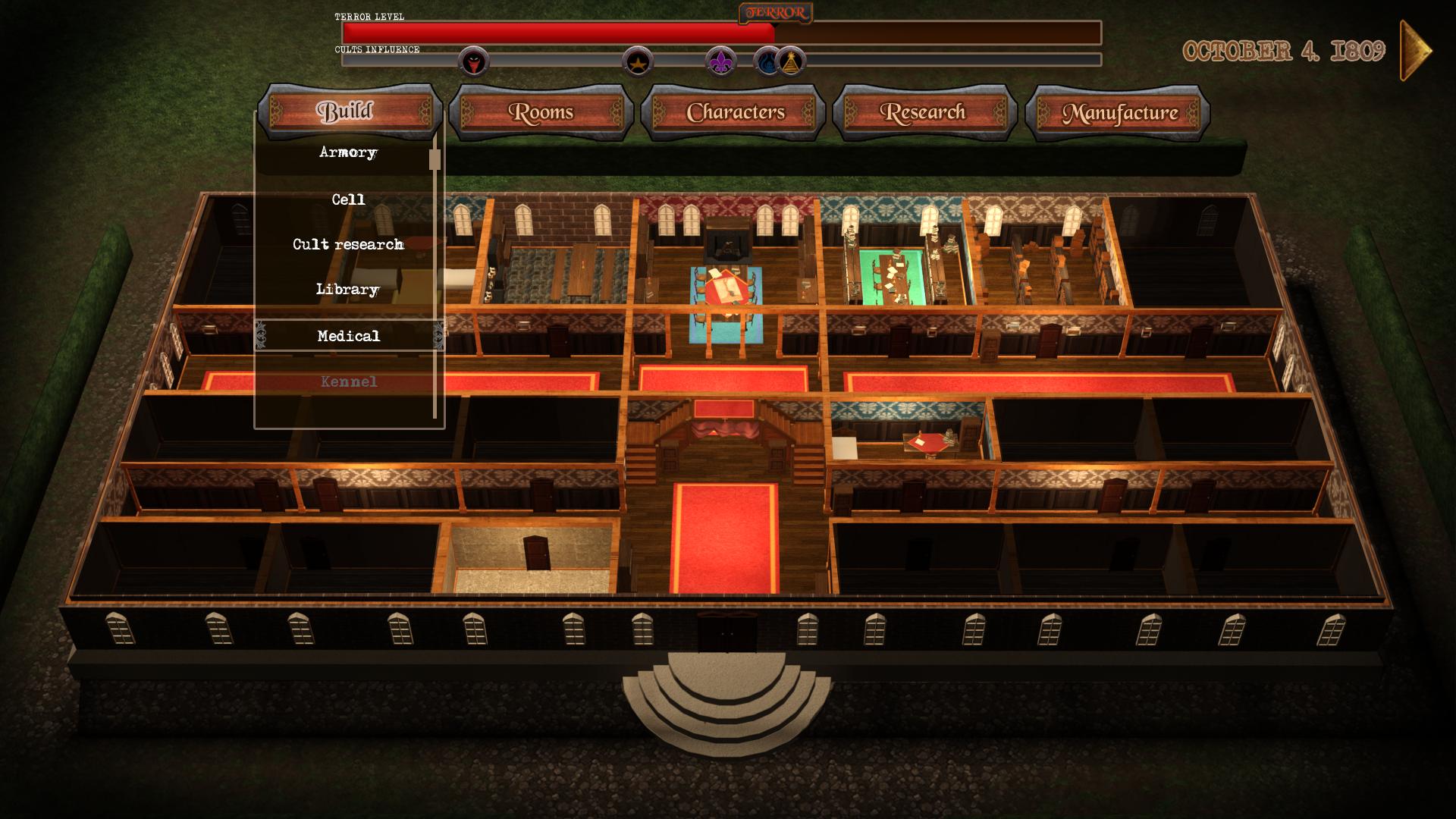 mansion 3d menu