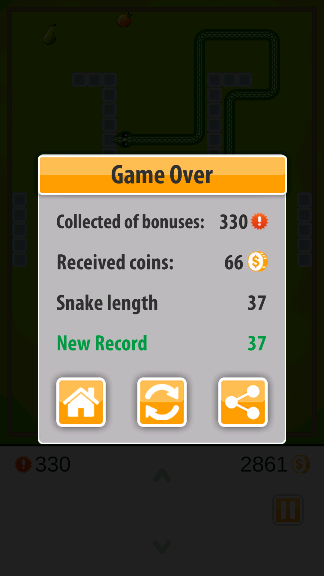 5 Snake Game Three Kings Screen 3