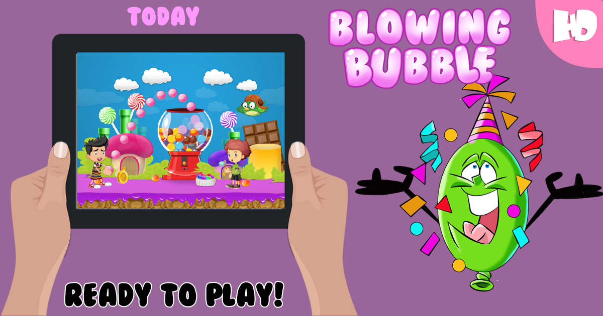 Blowing bubble games