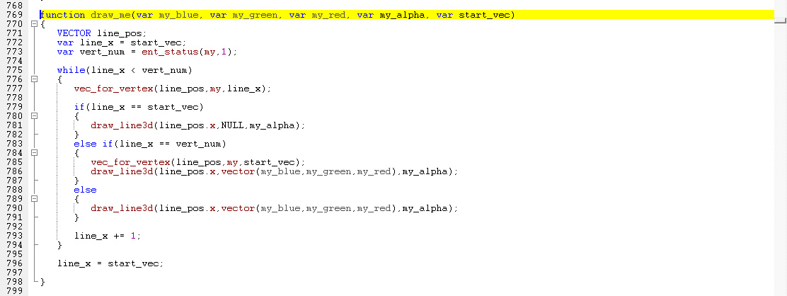 This is the script I use to draw vectors