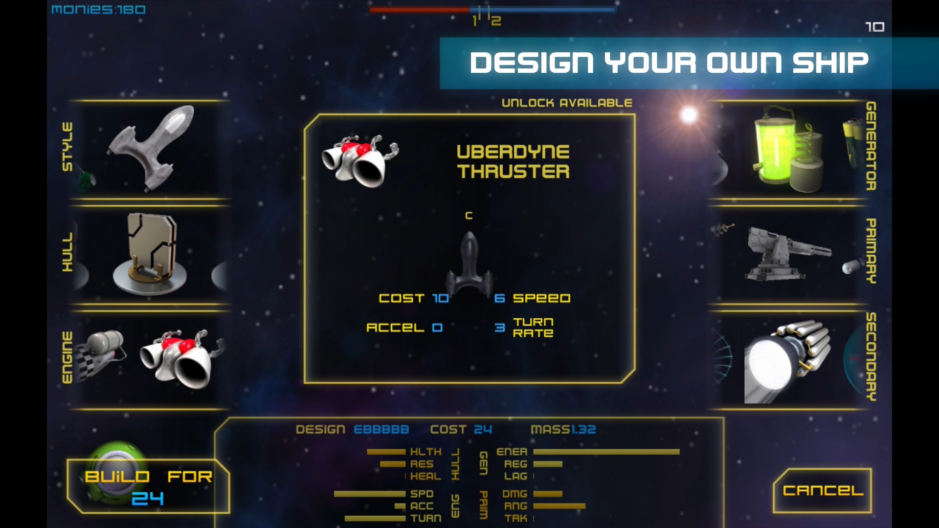 Design your own ships