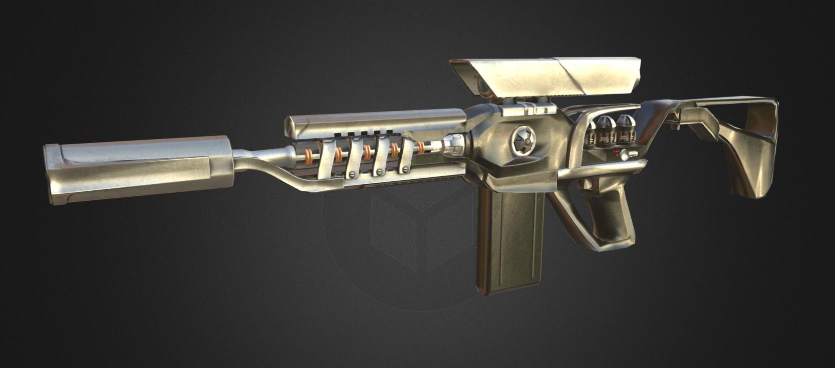 Gauss Assault Rifle Screen Capture from Sketchfab
