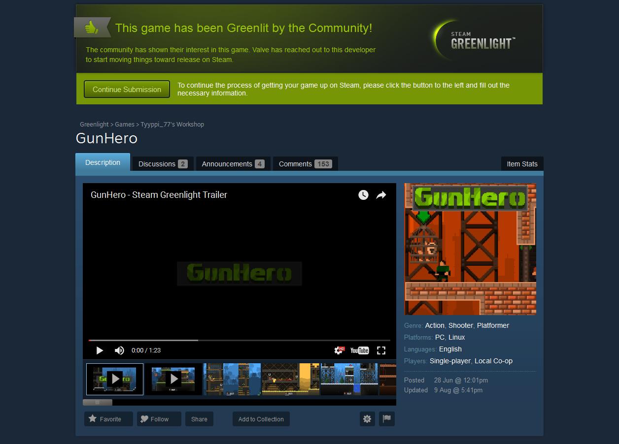 GunHero Greenlit!