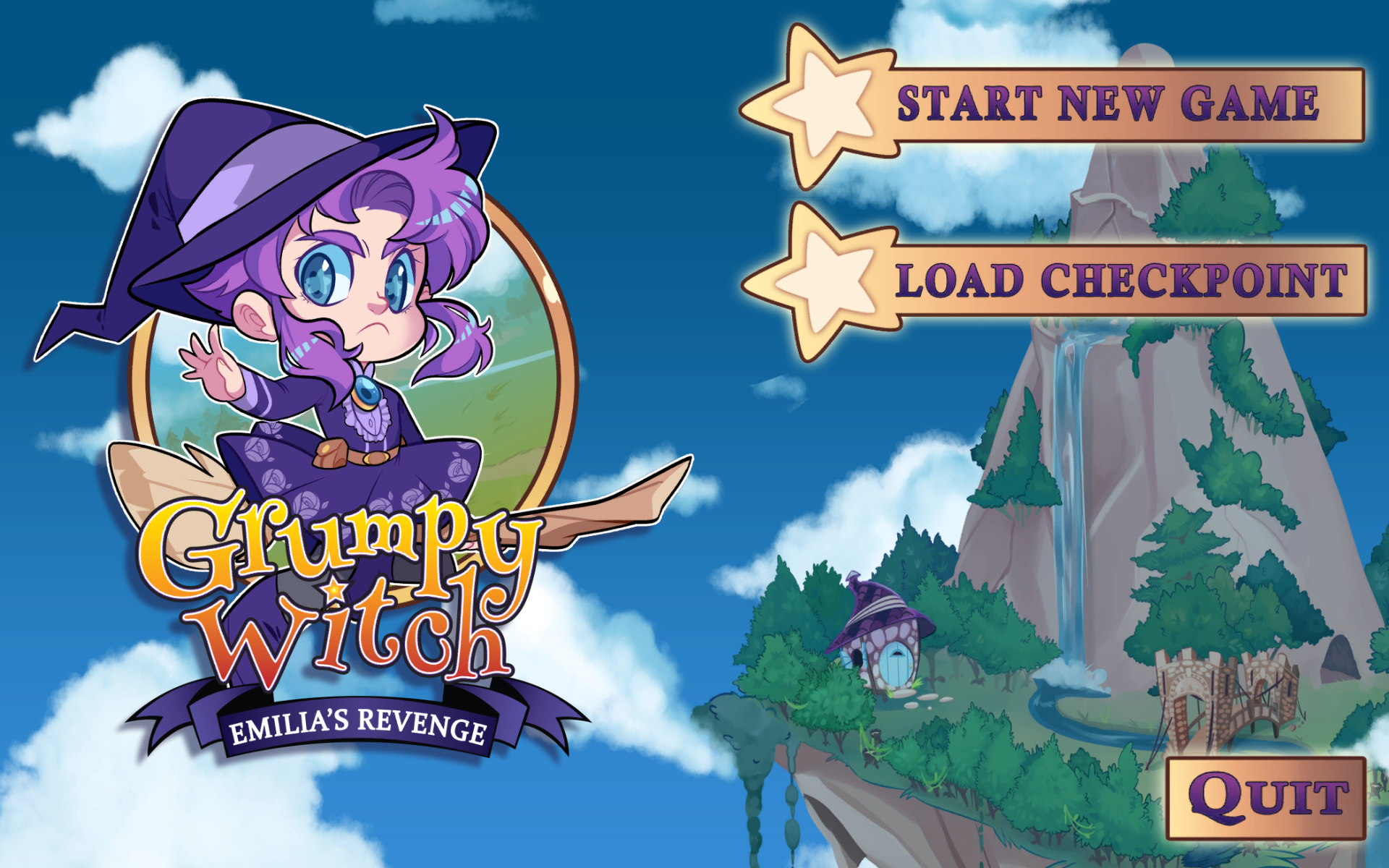 Grumpy Witch Title Screen