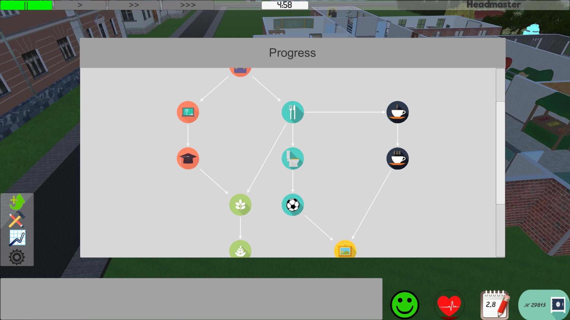 The upgrade menu.