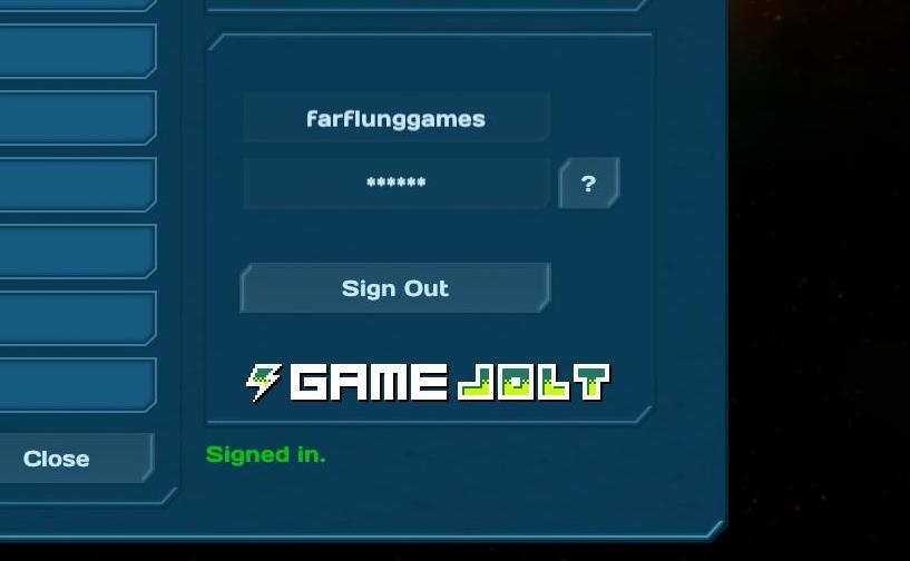 GameJolt sign-in