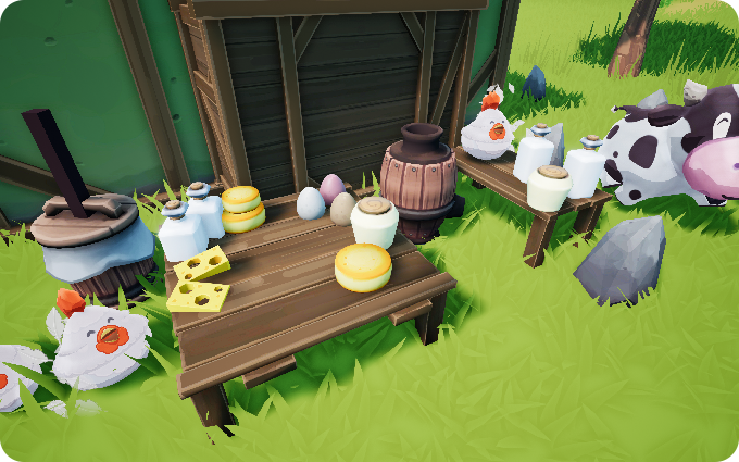Farm Folks farming rpg game animal raising products milk cheese eggs mayonnaise