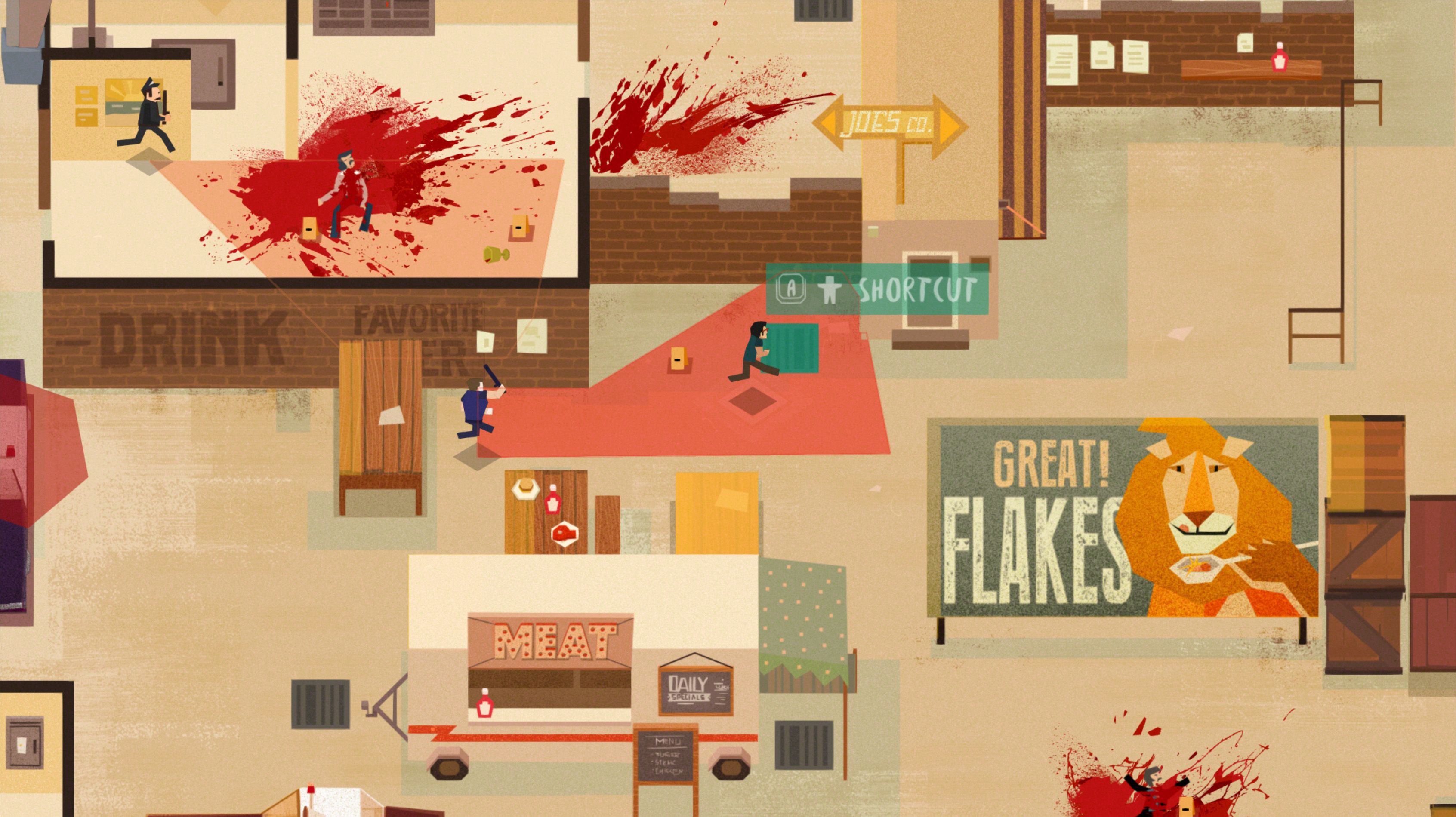 One of the screenshots from our game Serial Cleaner