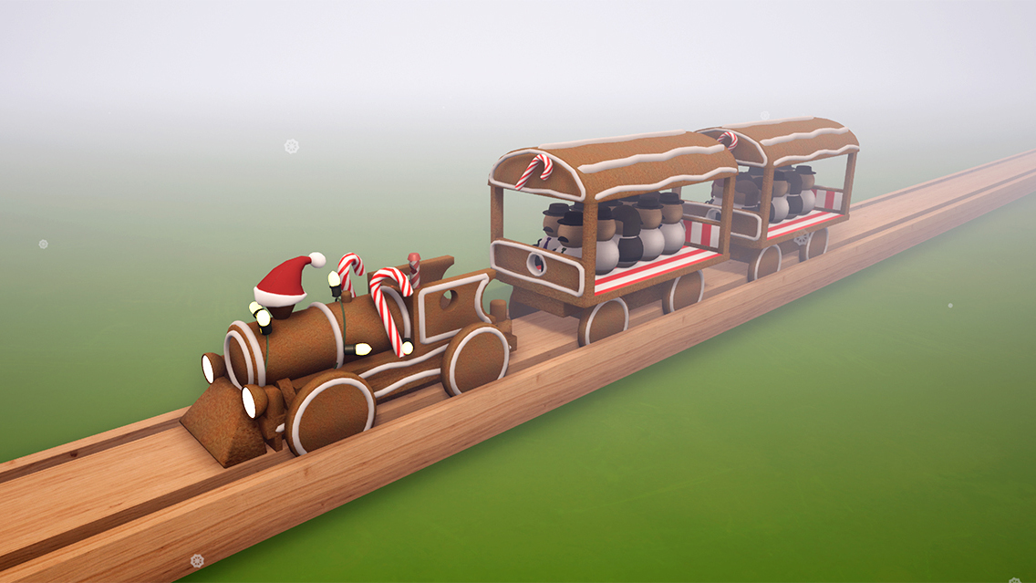 ChristmasGingerbreadTrain screen