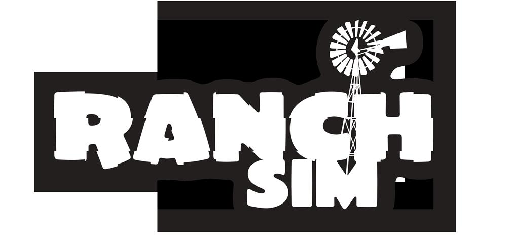 RanchSim logo white