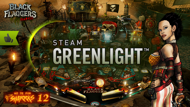 Black Flaggers Pinball Greenlight