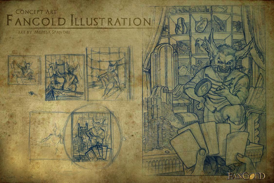 Sketch Illustrazione fangold