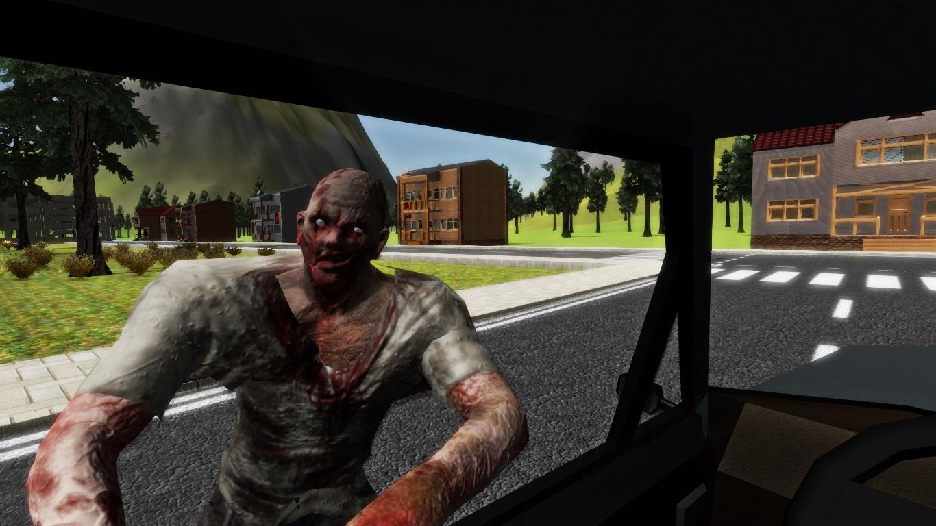 Zombie atacking car