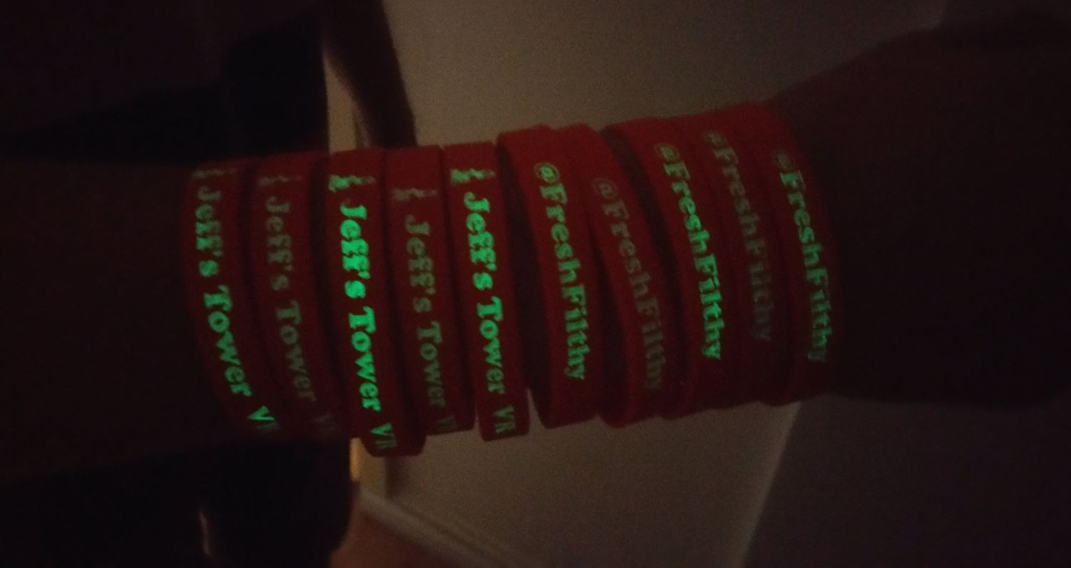 wristbands glowing
